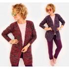 N025 Long Cardigan, Sweater Pattern: Warm Melange