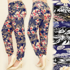 C1708 LOOSE PANTS, HAREMKI, PLUS SIZE, FLOWERS