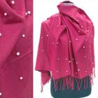 Warm Scarf, Plaid with Pearls, Kashmir A1296