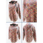 K55 Long Cardigan with Hood, Warm Colors