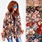 FL710 Large Scarf, Shawl, Floral Pattern