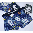 4838 Bamboo Boxer Shorts Men, L-3XL, Skull
