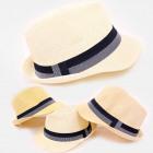 C1982 Unisex Beach Hat, Straw, Stripe