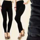 4015 Comfortable, Black Leggings, Warming: Faux fu