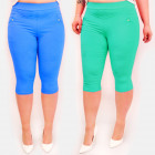 C17624 Pants, Plus Size, Length 3/4, Colors