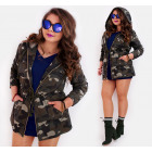 BI689 Spring Ladies Jacket, cotton, Hood, Oversize