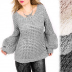 G246 Winter Sweater, Puffy Sleeves, Spanish Style