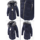 E15 Winter Jacket, Aztec Quilting, Navy Blue