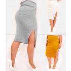A863 Women Skirt, Tube Line, Soft Knit, Colors