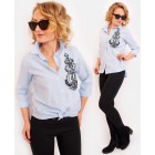 R27 Lovely Ladies Shirt With Royal Embroidery JN
