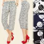 C17147 Loose Pants, Summer Pattern in Polka Dot