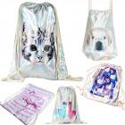 Women;s Backpack Sack, Hologram, Animals A1855