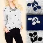 C11340 Casual and LCiepła. Blouse, Tunic, Flowers