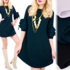 C24161 Chic Dress, Loose Line, Frills