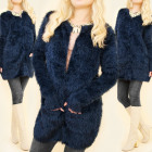 Women Fluffy Cardigan Coat, Teddy Coat, 5132