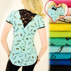 BI482 Summer Blouse, Lace and Bow