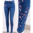 B16759 Women Jeans, Pants, Floral Pink print