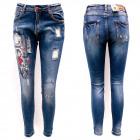 Jeans pour femmes, 25-30, imprimés et patchs, B168