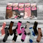 4320 Womens Ladies Socks, Roses Pattern, 35-42