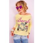 A801 Adorable Damen Sweatshirt, Bambi Print, Baumw