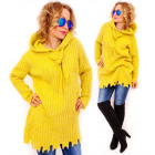 PL3 Thick and Long Sweater with Hood, Wool and Moh