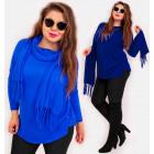 EM77 Original Sweater With Shawl, Oversize