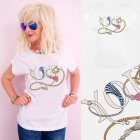 A885 Cotton T-Shirt , Top, You Chains, White