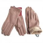 Woll Damenhandschuhe, Farbe Nude, SL, 5815