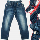 A19169 Boys Denim Pants, Jeans, 4-12 Years