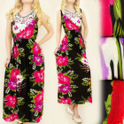 4102 BEAUTIFUL MAXI DRESS, ORCHIDEA PATTERN, LACE