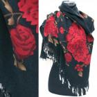 Wintersjaal, sjaal met rozenpatroon, A1298