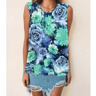 Women Blouse, Summer Top, Flowers L-4XL, 6613