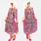 C17698 Women Oversize Dress, Oriental Look
