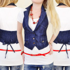 C11162 CHARM VEST JEANS, LADIES BELOVED VEST