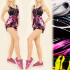 FL495 Set Top + Shorts, Sport, Electro Pattern