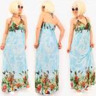 D1495 Holiday Women Dress, Maxi, Exotic Pattern