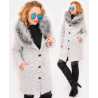 C24246 Winter Women Jacket with Fur, Bukle Chic&Wa