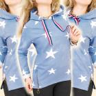 Sweat-shirt BI602 gratuit, capuche, ligne de ville