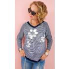 BI789 Loose Women blouse, sweatshirt, flower