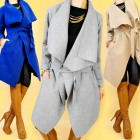 3644, ELEGANT LOOSE COAT, CARDIGAN, FLASK