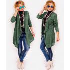 R70 Long Cardigan, Jacket, Soft & Cozy Green