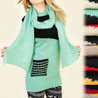 BI169 SWEATER with pocket, TUNIC, SCARF IN SET