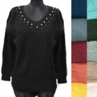 Classic Loose Sweater For Women, V-neck, R134