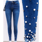 B16744 Women Jeans, Skinny Pants, Pearls