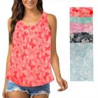 Summer thin blouse, Butterflies pattern top, M-XL,