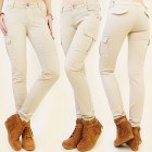 B16450 COTTON PANTS, MILITIARY, SAND COLOR