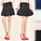 C11147 EFFECTIVE SKIRT, 3D MATERIAL, BUTTONS