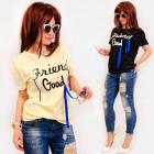 C11543 Damen Shirt, Perlen & Bänder, guter Fre