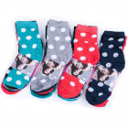 Womens Socks, cotton , Pattern Dots, 35-42, 4988