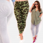EM89 Women Pants, Stripes and Moro Pattern,
